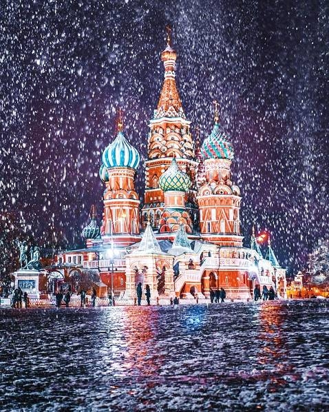 冬日莫斯科如梦如幻宛如童话