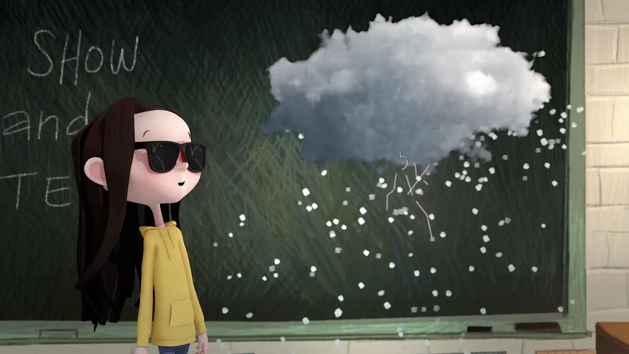 《小女孩和云彩》爱尔兰童话暖心动画短片