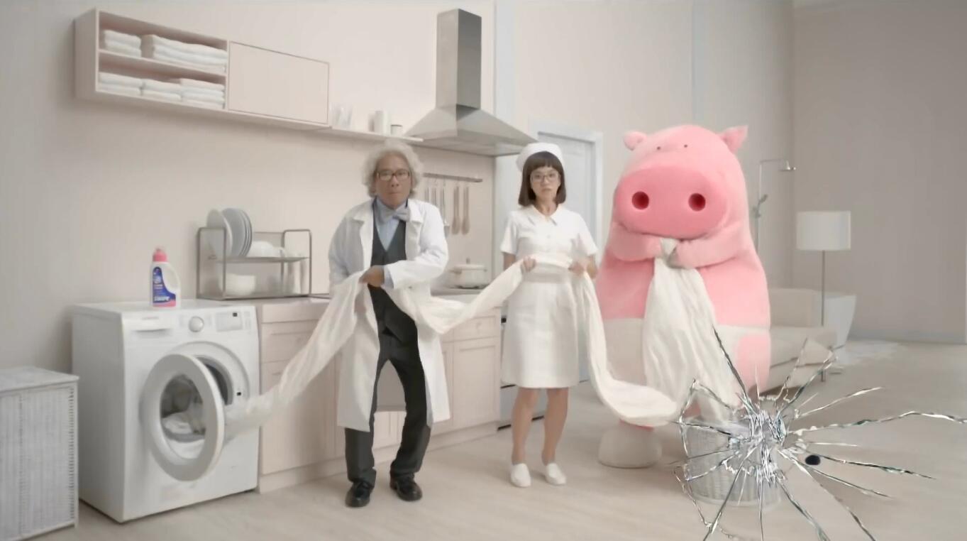 威宝万用清洁剂用品广告-洁癖猪篇