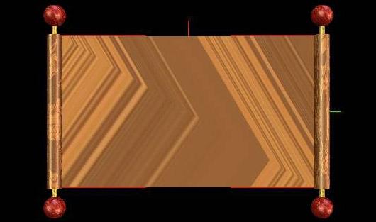 用 Corel Motion Studio 3D 制作画轴之一