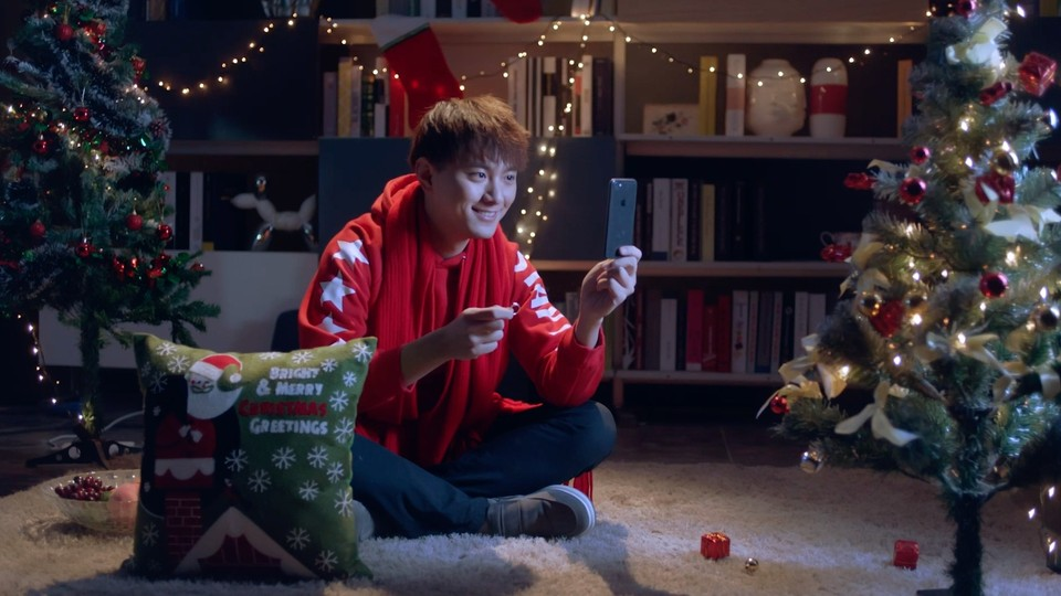 百度渡鸦智能音响广告 圣诞篇