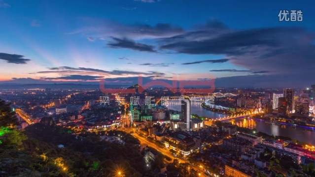延时摄影 《柳州全景延时摄影视频素材》